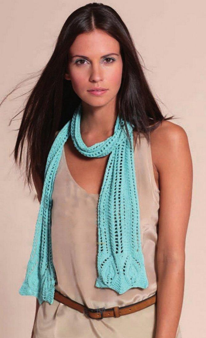 Связать шарф спицами для женщин: красивый узор - журнал о всём