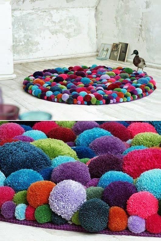 ᐉ как ухаживать за ковриком из помпонов. как сделать коврик из помпонов своими руками ✅ igrad.su