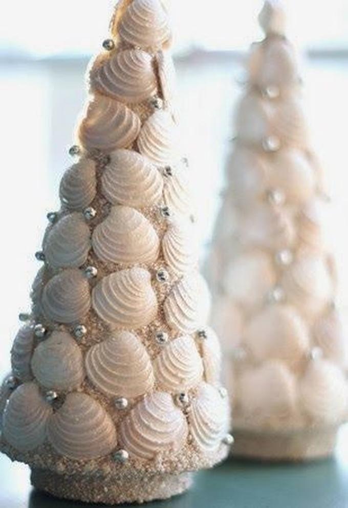 Как сделать елочку из ракушек. новогодняя елка из ракушек своими руками