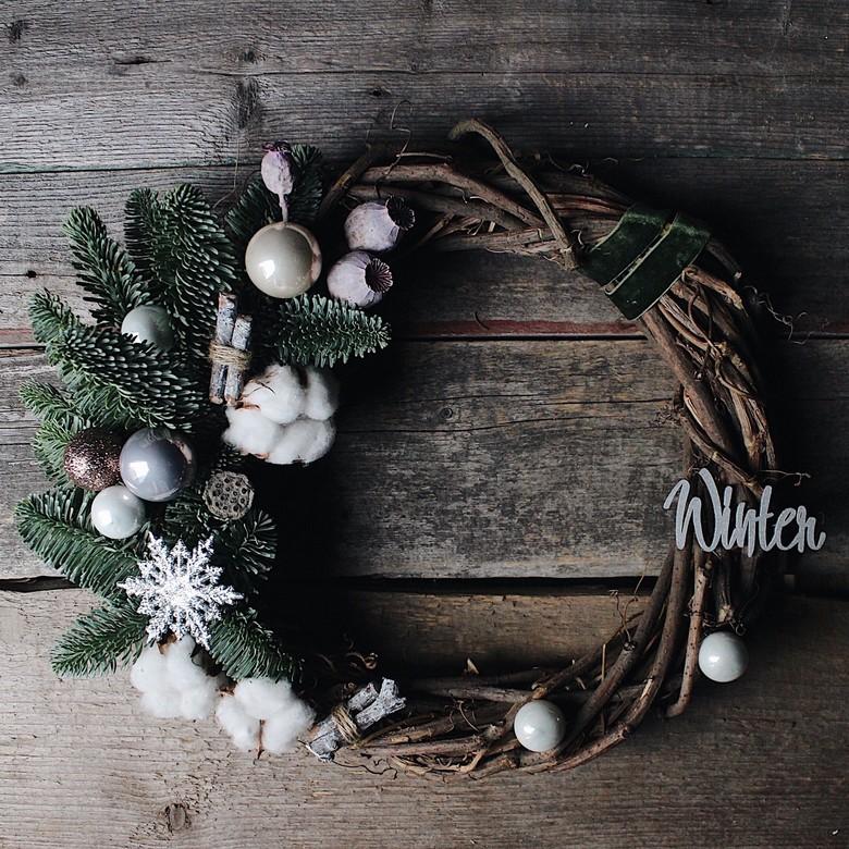 ᐉ плетем и вяжем венки к новому году - своими руками -