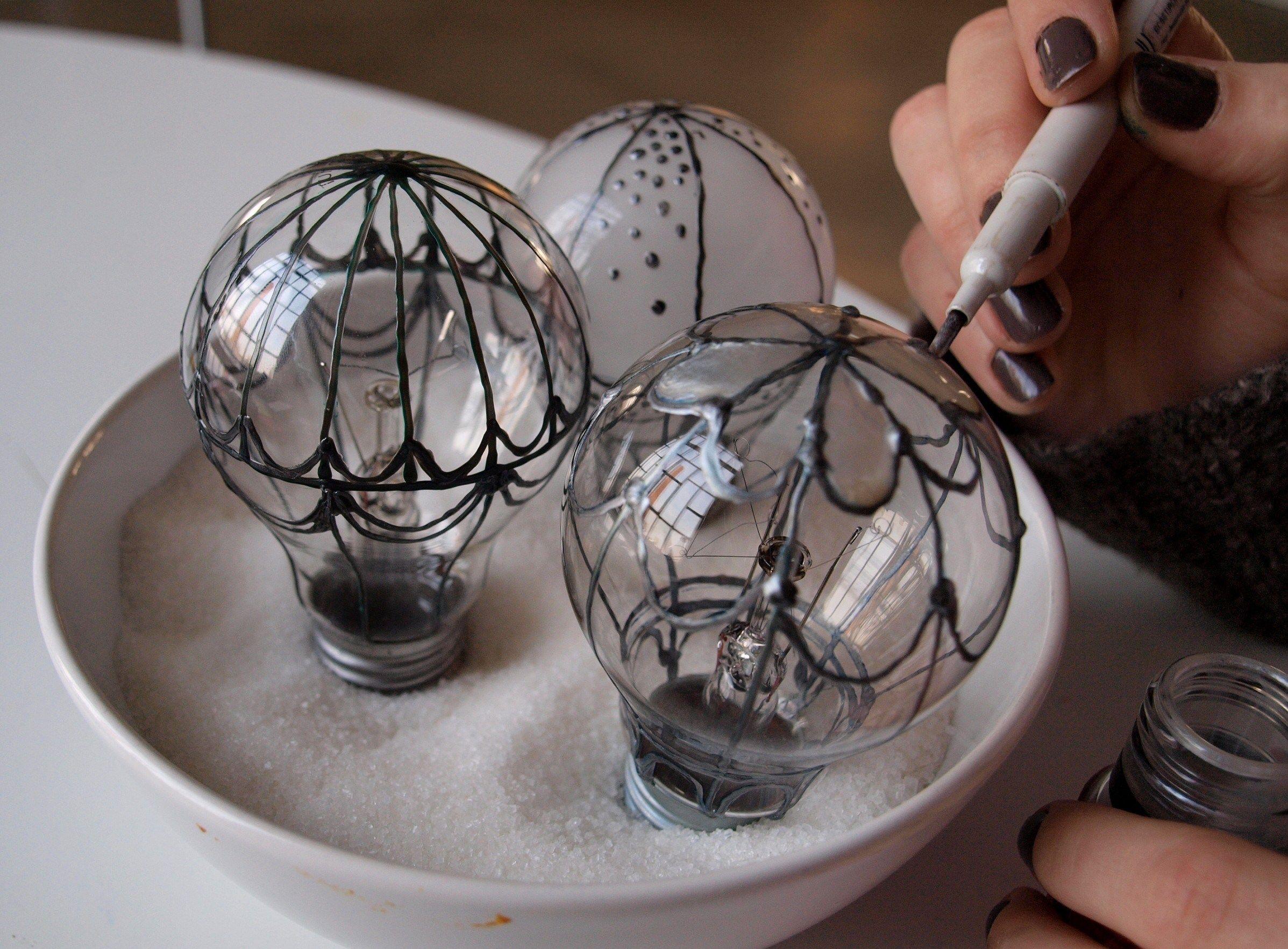 Воздушный шар из лампочки. | страна мастеров