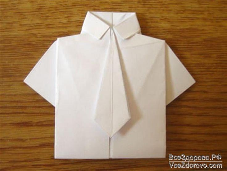 Открытка-рубашка с галстуком своими руками