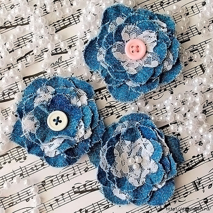 Цветы из джинсовой ткани своими руками для начинающих: как сделать, пошагово - швейный мир
