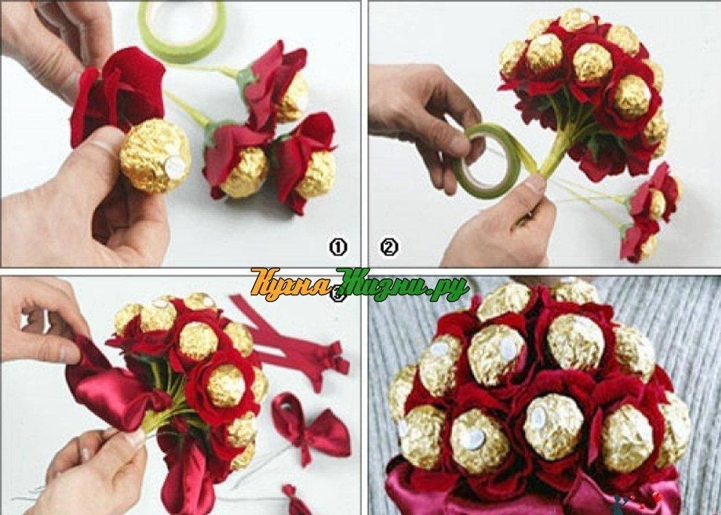 Букет из конфет своими руками — пошаговая инструкция, как сделать в домашних условиях. 100 фото лучших идей!