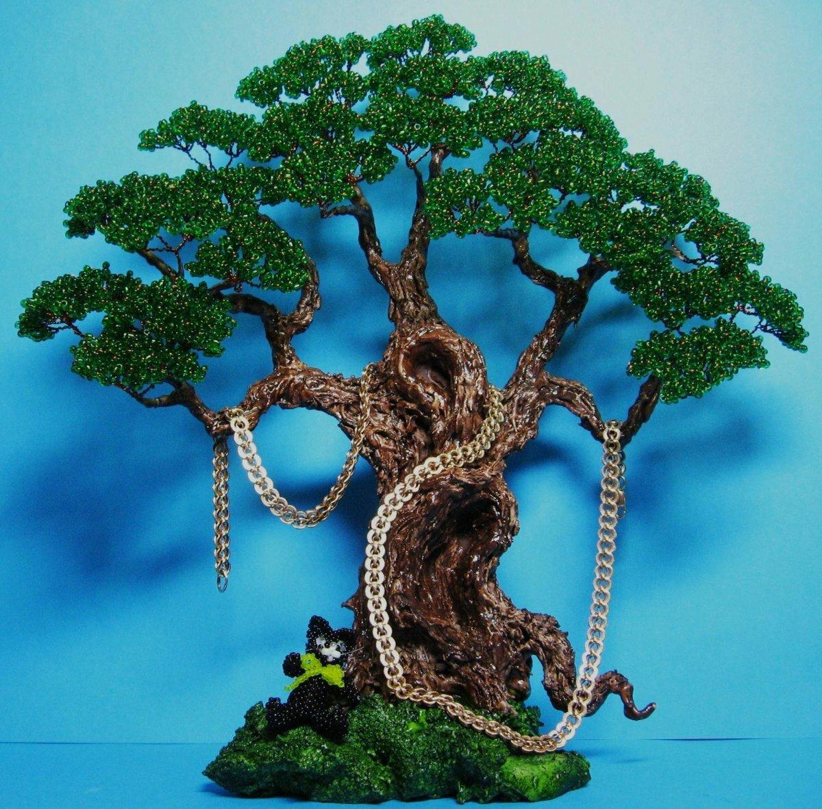 Дерево из бисера: схемы плетения и фото идеи, какие нужны материалы для работы, мастер-класс для начинающих.