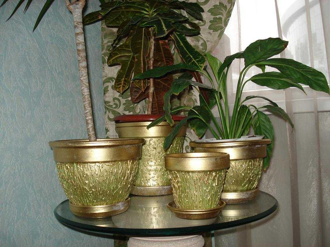 Декор цветочных горшков своими руками: 75 фото, видео