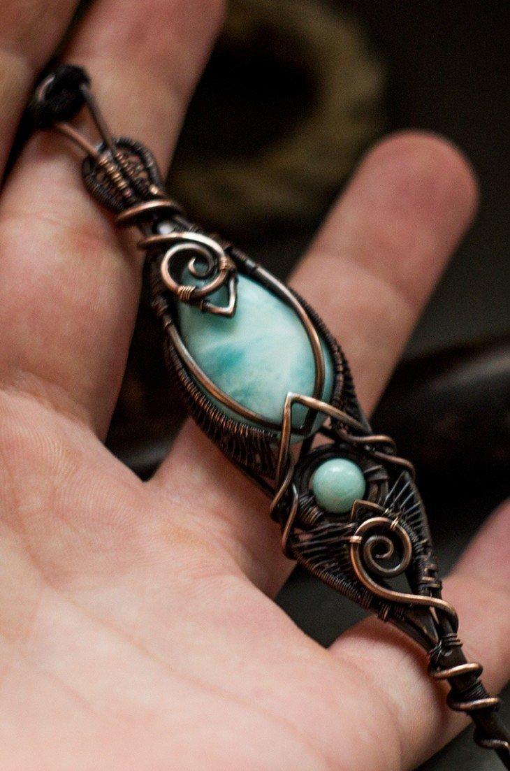 Делаем красивое кольцо из медной проволоки