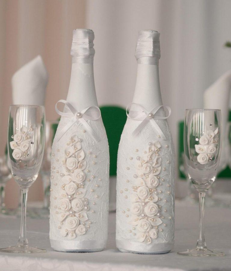 Бутылки на свадьбу своими руками – идеи декорирования с пошаговой инструкцией и фото: мастер-классы по украшению свадебных бутылок   qulady