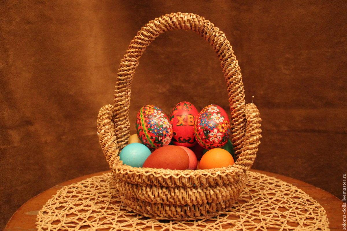 Корзинка для пасхальных яиц из фетра своими руками — 3+ супер мастер-класса
