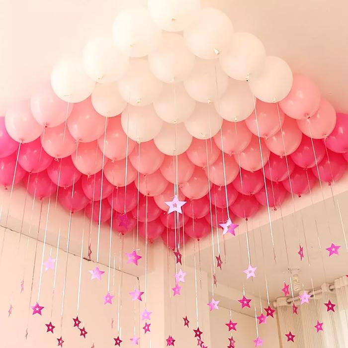 13 идей, как необычно украсить комнату воздушными шариками