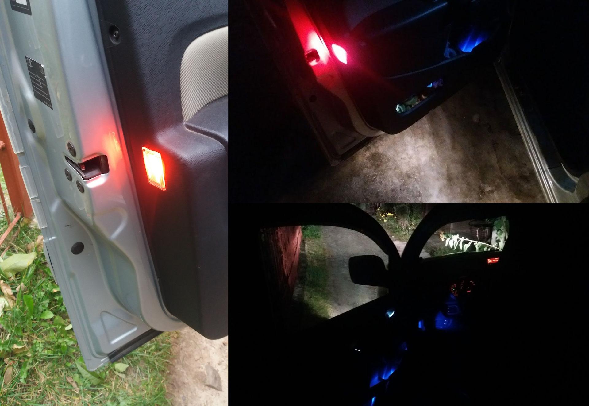 Как своими руками смонтировать подсветку дверей в автомобиле