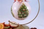 Декупаж новогодних шаров (74 фото) - пошаговые мастер-классы для начинающих