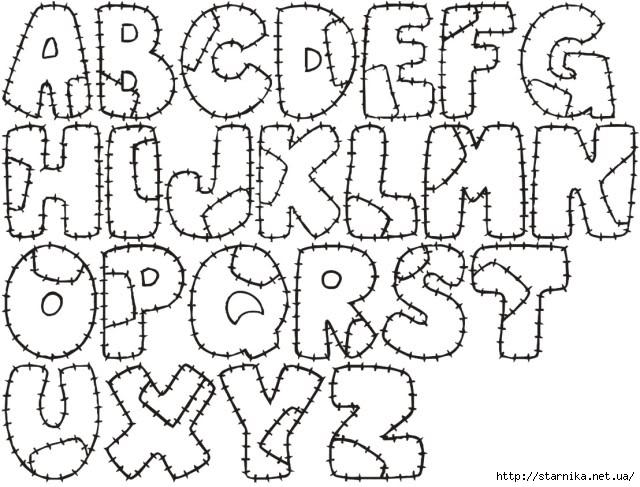 Буквы из фетра своими руками, изготовление и использование