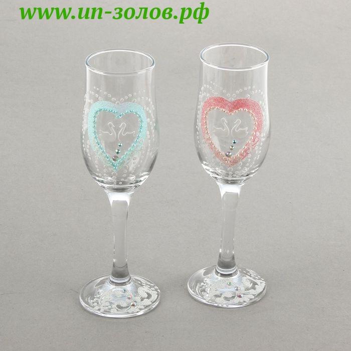 Роспись по стеклу: как украсить свадебные бокалы своими руками