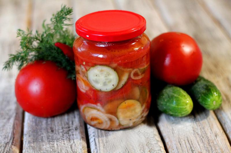 Огурцы в томатной заливке на зиму: обалденные рецепты без стерилизации