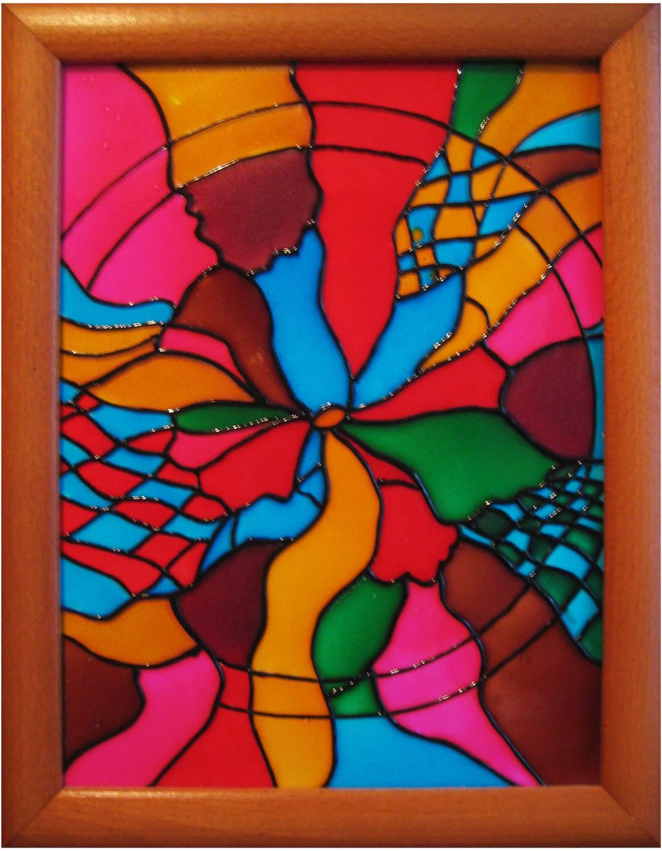 Витражи акриловыми красками на оконном стекле