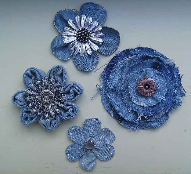 Цветы из джинсовой ткани своими руками: мастер-класс пошагово с фото