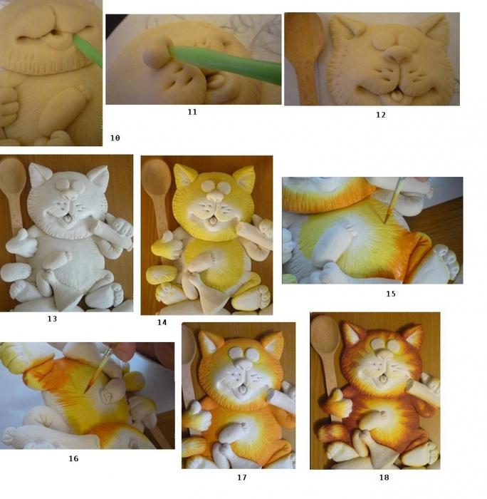 Кот из соленого теста: мастер класс пошагово