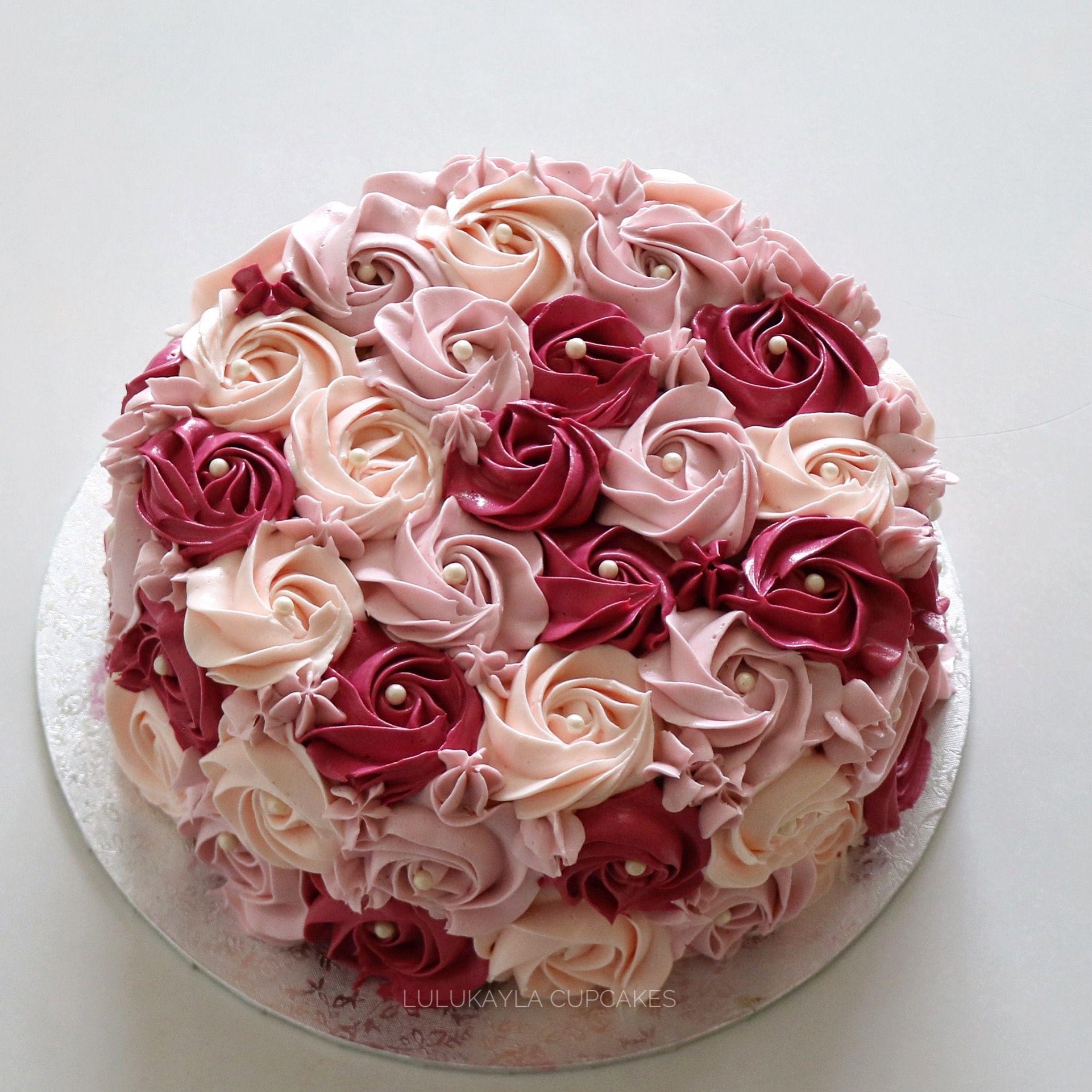 Сережки «Тортики с кремовыми розочками»