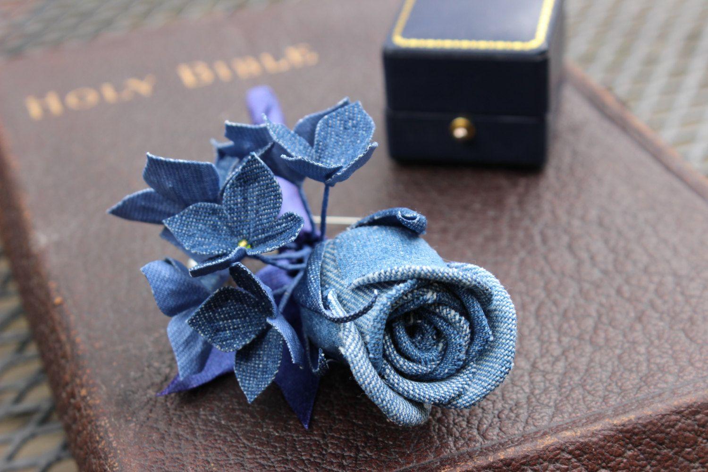 Мастер-класс украшение шитьё джинсовые цветы пуговицы ткань