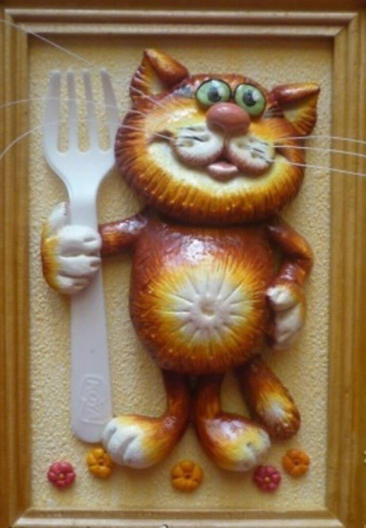 Лепка из теста кота. мастер-класс: рыжий кот из соленого теста и лампочки. мастер-класс лепки котенка из соленого теста