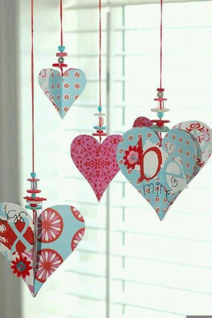 Как сделать сердечную гирлянду ко дню валентина? 14 идей к 14 февраля!