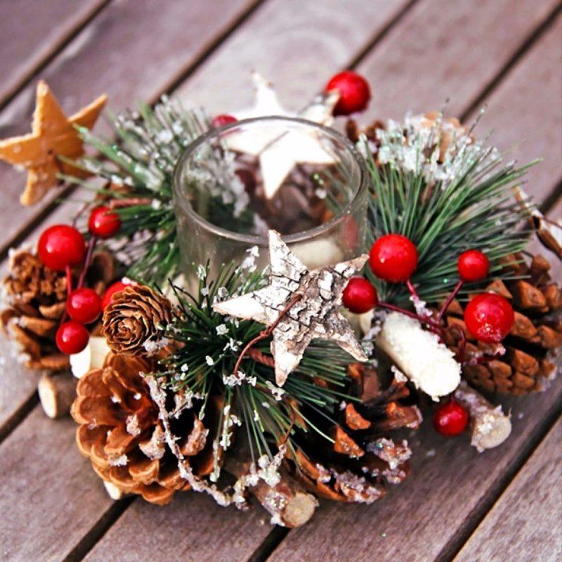 Новогодние композиции — простые идеи для украшения дома