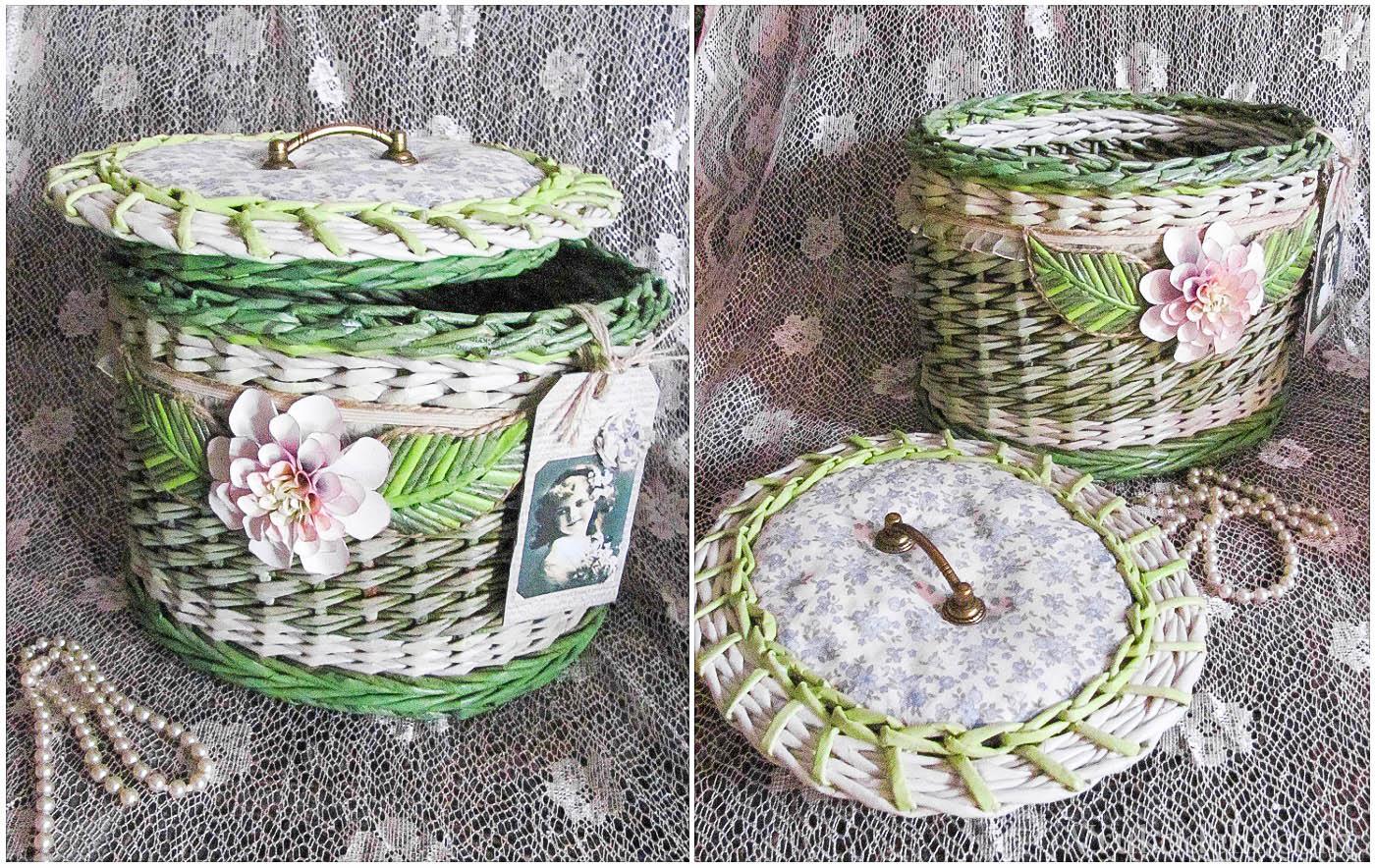 Корзинка из газетных трубочек для хранения семян – пошаговый мастер-класс с фото