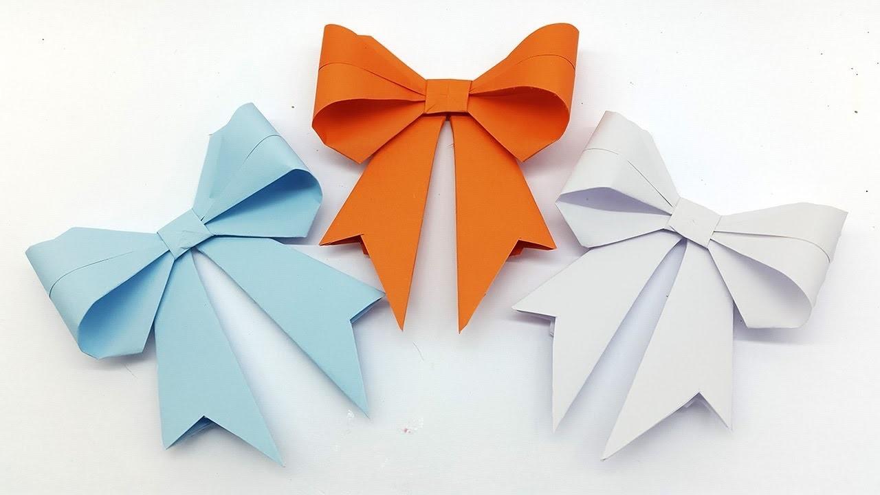 Бантики: простые схемы как сделать красивый бант из бумаги