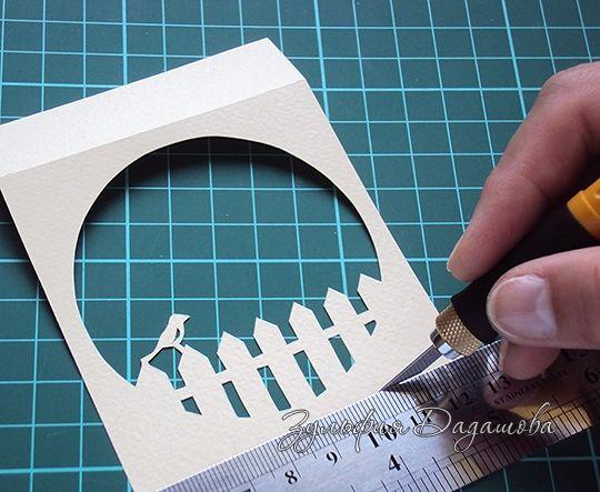 Мастер-класс скрапбукинг моделирование конструирование открытка - туннель в коробочке бумага