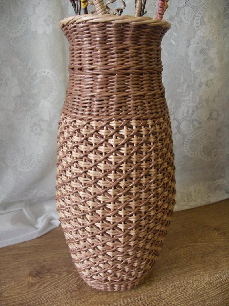 Азы плетения из газетных трубочек пошагово для начинающих
