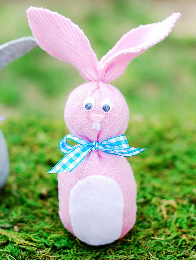 Зайчик из носка - игрушки своими руками - страна мам