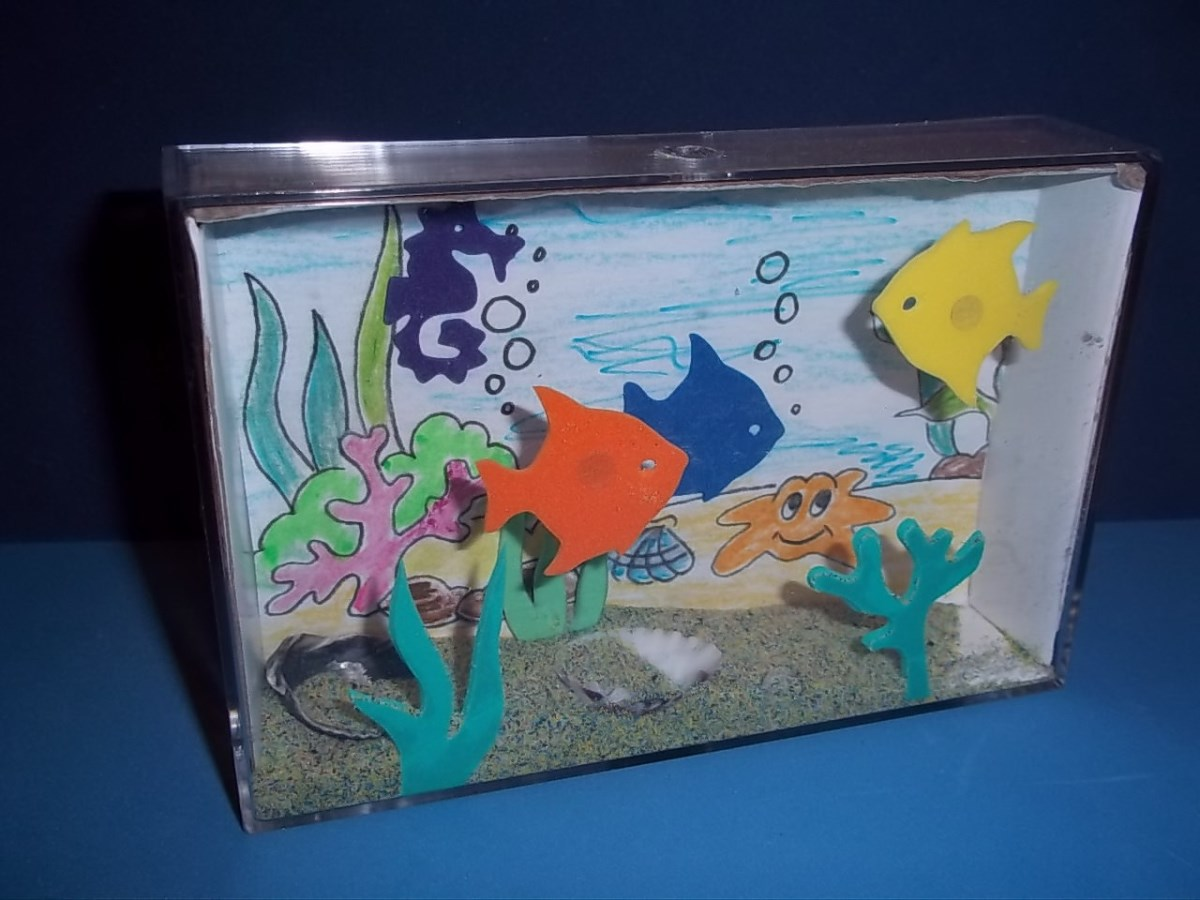 Поделки аквариум с рыбками – как сделать из бумаги аквариум с рыбками – club-detstvo.ru – центр искусcтв и творчества марьина роща