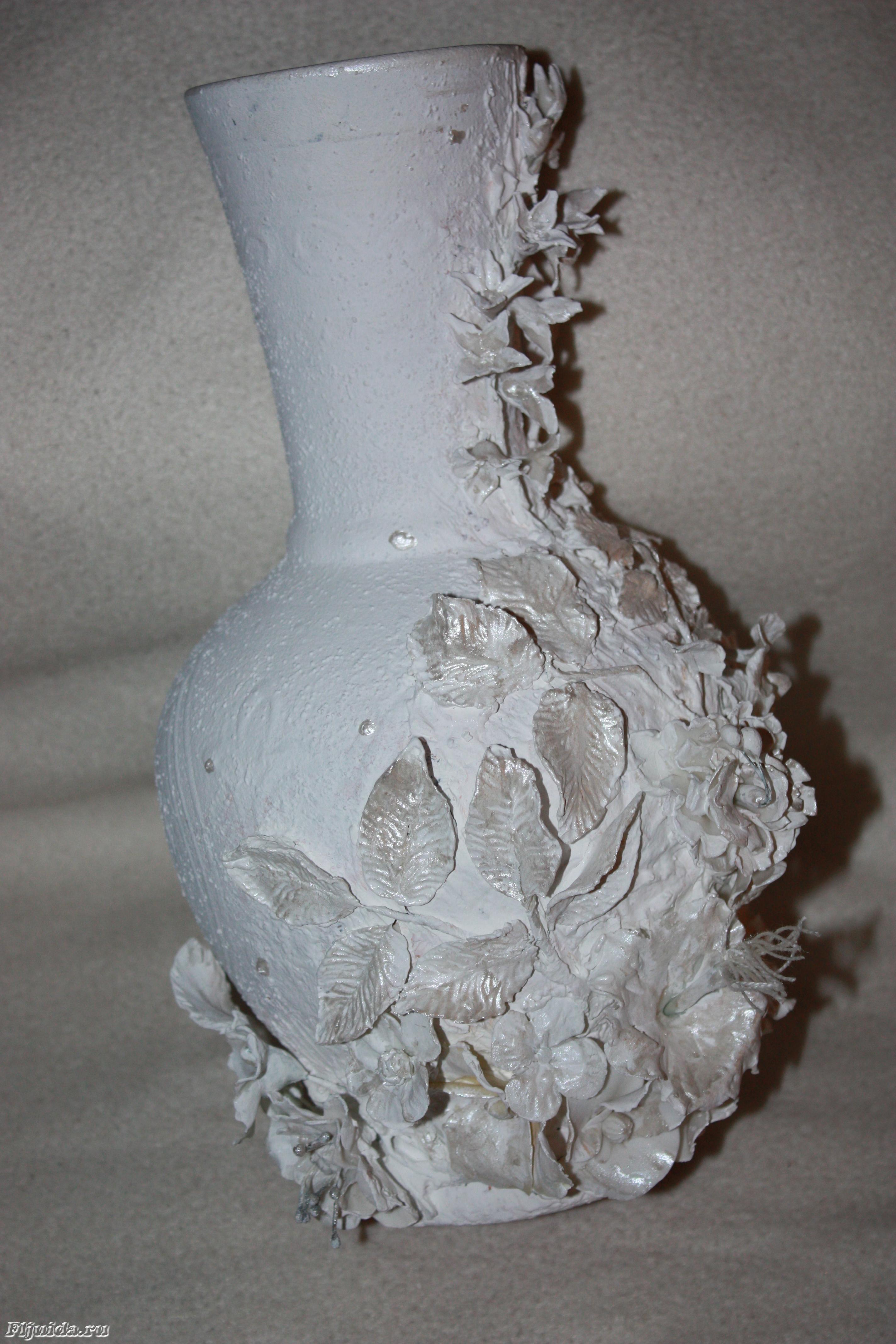 Поделка изделие папье-маше вазы из папье-маше бумага газетная картон краска