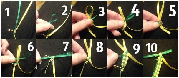 Мастерим браслеты из ленточек своими руками: схемы и обучающие видео прилагаются