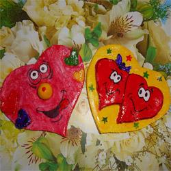 Валентинка из соленого теста: дневник группы «галерея подарков»: группы - женская социальная сеть myjulia.ru
