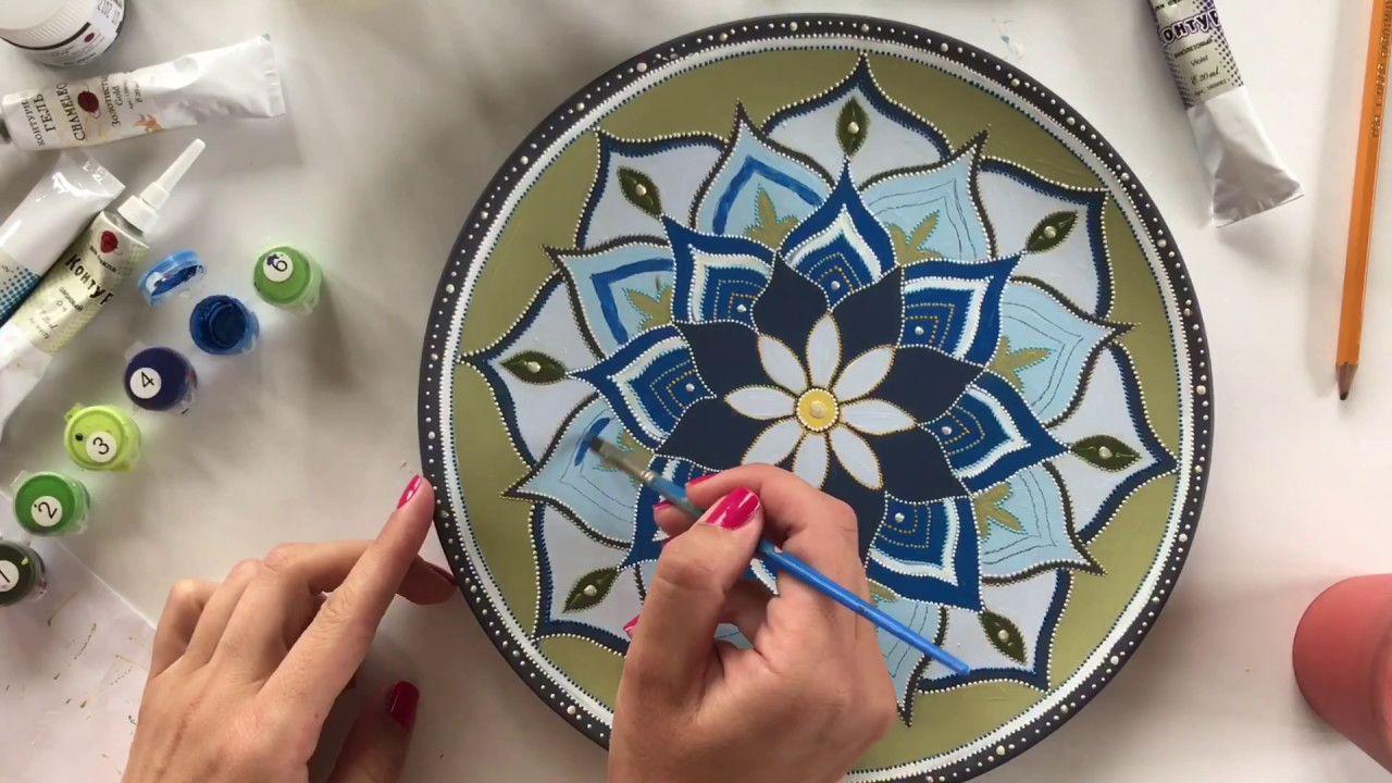 Роспись тарелок своими руками для начинающих – 5 мастер-классов