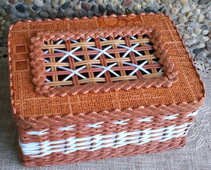 Плетение шкатулок и коробок из газетных трубочек - 100 фото лучших работ + инструкция для новичков