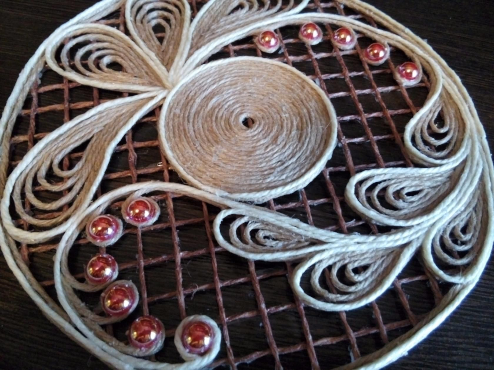 Изделия из джута своими руками: идеи поделок, техника джутовая филигрань для начинающих