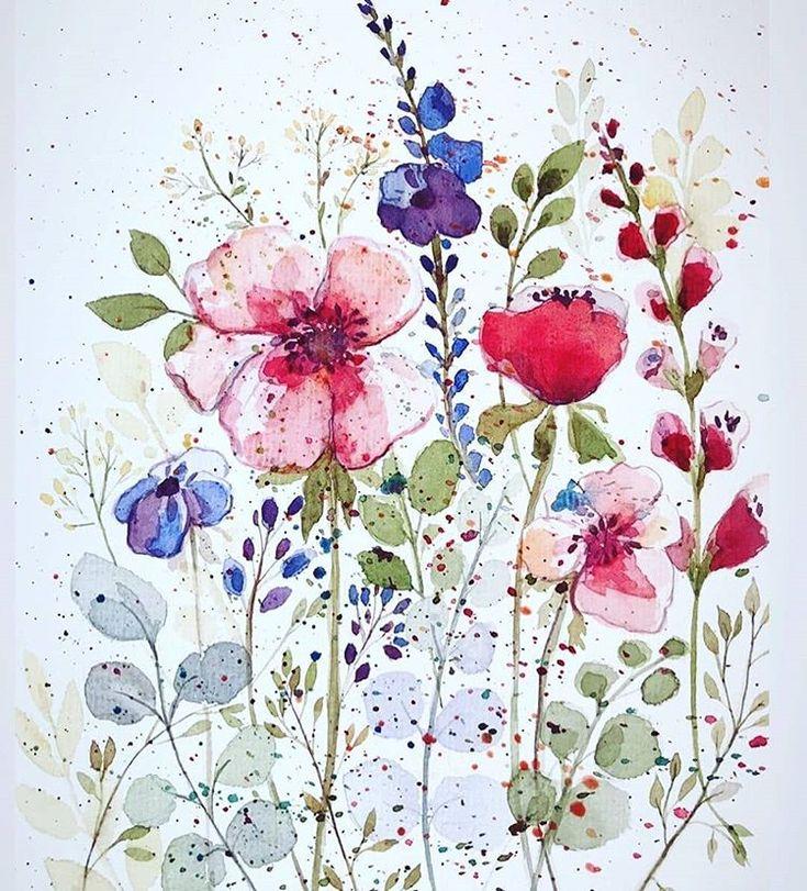Акварельные цветы акварельная живопись рисование, акварельные цветы, иллюстрация розовый цветок png