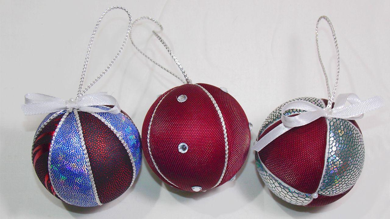 Новогодние шары своими руками: мастерим елочные украшения ручной работы | крестик