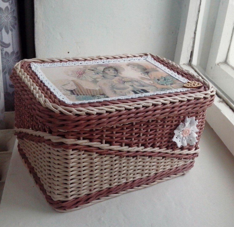 Шкатулка из газетных трубочек с картонным дном, в форме сердца, мастер-класс для начинающих, фото и видео
