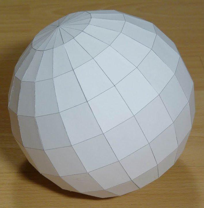 Поделки футбольного мяча из картона и бумаги схемы с шаблонами для вырезания