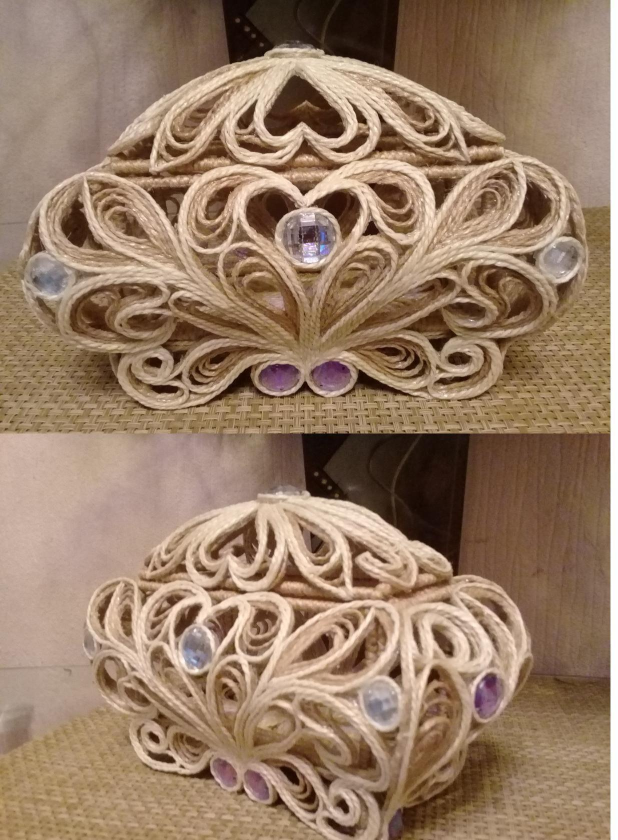 Поделки из шпагата своими руками (69 фото) - пошаговые мастер-классы по изготовлению вазы, корзинки, цветов и венка