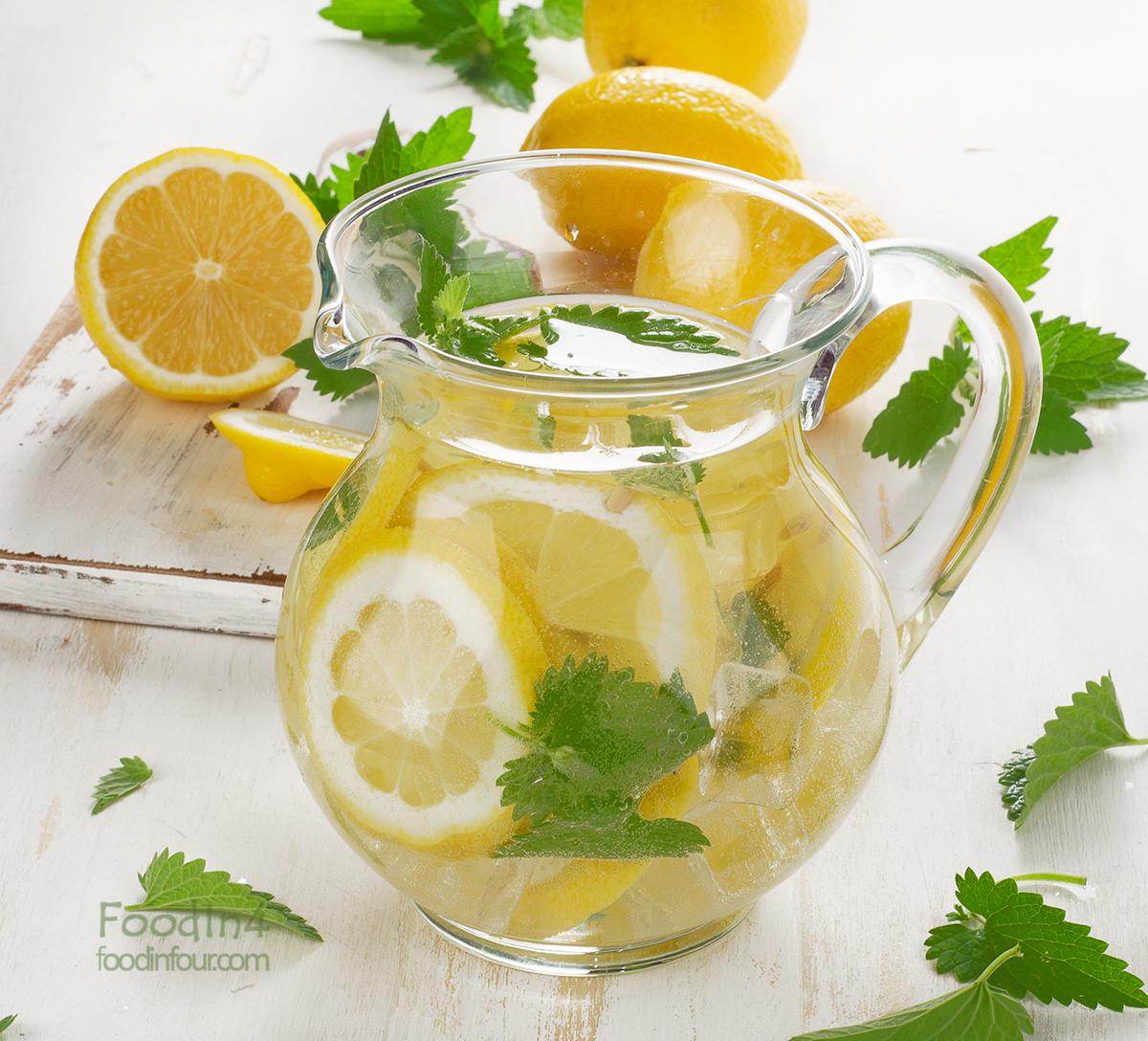 Тонизирующий напиток из лимона, мяты и меда