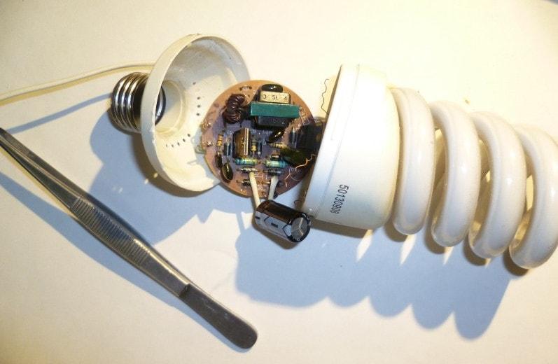 Модернизация энергосберегающей лампы в светодиодную №2