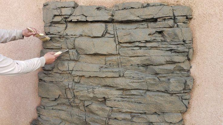 Как сделать штукатурку под камень своими руками