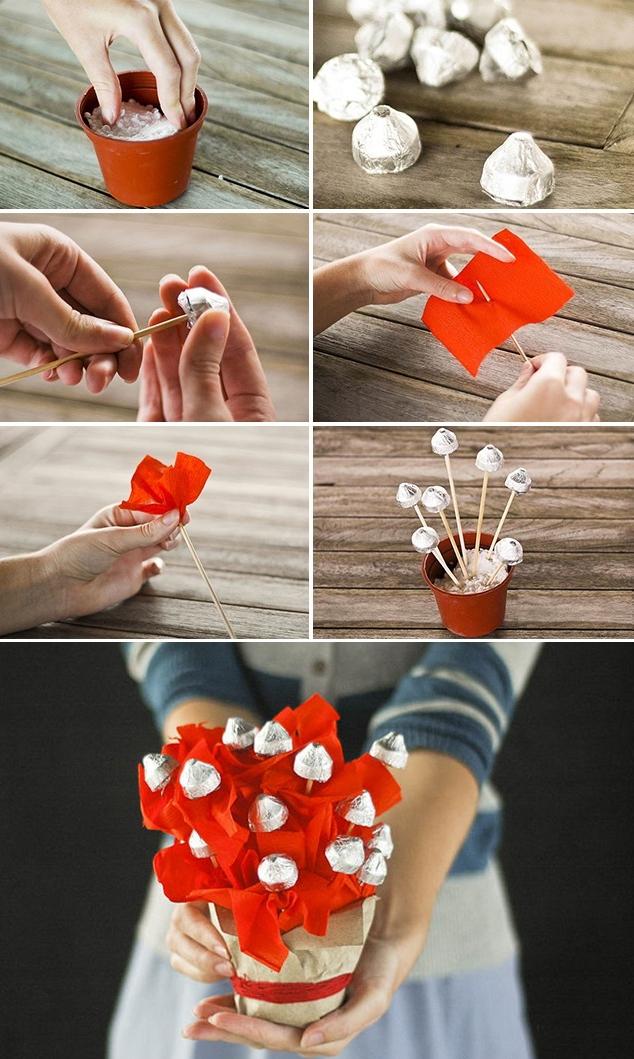 Букеты из конфет своими руками (пошагово): 102 фото идеи, инструкции, мастер-классы для начинающих