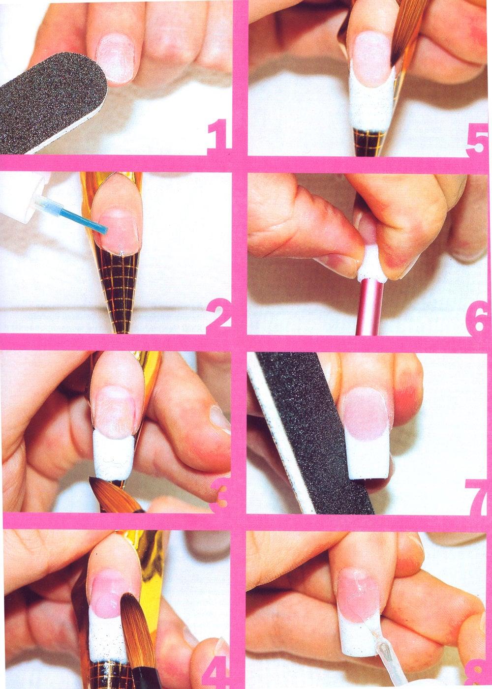 Наращивание ногтей акрилом (42 фото): технология наращивания с помощью акриловой пудры и базы, отзывы