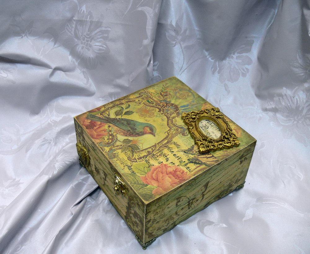 Декупаж деревянной коробки. как оформить реечный ящик для хранения декупаж ящика для овощей